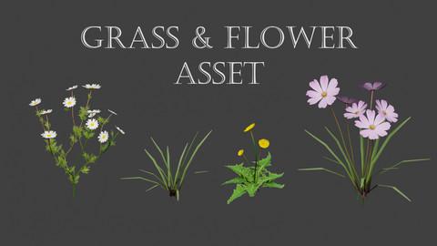 Grass & Flower Asset