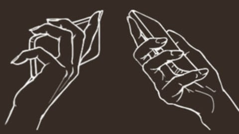 Hand with Phone Cheat Brushes Pack