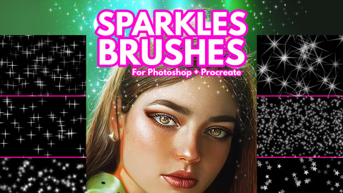 Sparkles Brushes for Photoshop + Procreate