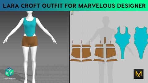 Lara Croft outfit for Marvelous Designer