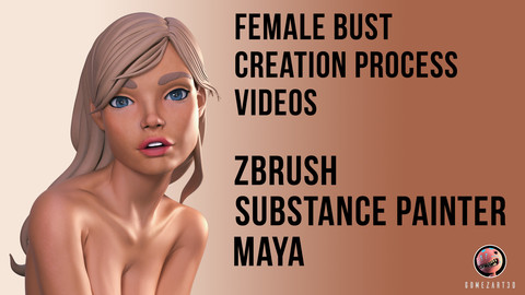 Female Bust Sculpting, texturing and Lighting
