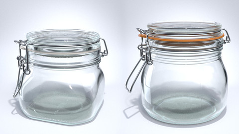 Clamp Jar, Bottle - Animated