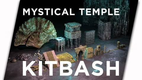 Mystical Temple Kitbash for Concept Artist