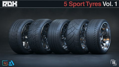 5 Tire Models - Sport Aftermarket Vol 01
