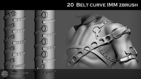 20 Belt IMM Curve Zbrush Brushes