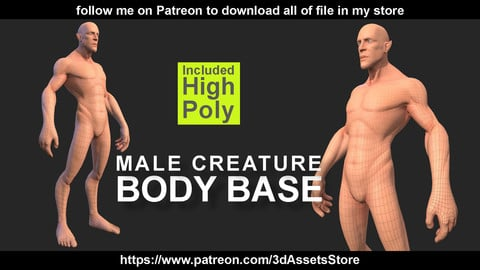 Character - Creature Male Body Base