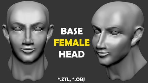 Base Female Head (ZTL, OBJ)