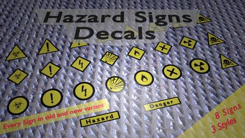 Hazard Signs Decals Package