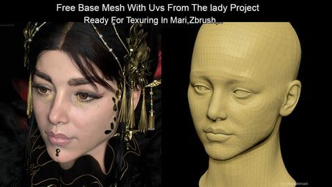 Free Base Mesh From Project With Good Topology And UV udims For Production