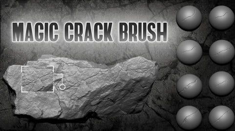 Magic Crack Brush For Zbrush 2021 ( New Feature )