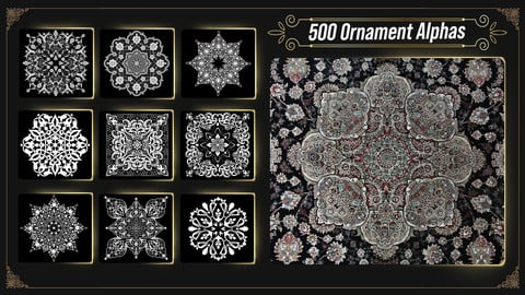 500 Ornament Alphas ( Largest Ornament Library ) 17k Resolution