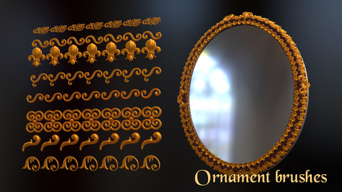 Ornament brushes Zbrush