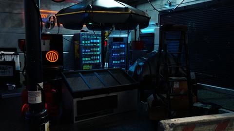 Cyberpunk Lair - Amidst a Mess