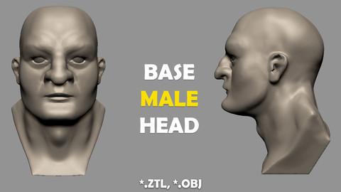 Base Male Head (ZTL, OBJ)