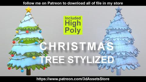 Environment - Christmas Tree Stylized