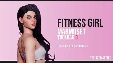 Fitness Girl -  Marmoset Toolbag Scene
