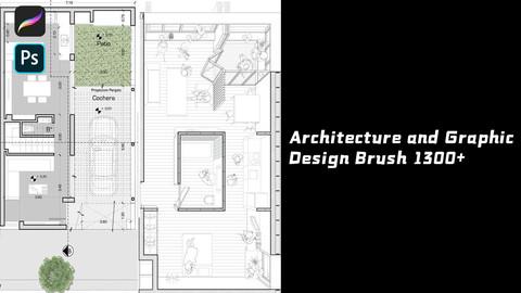 Procreate&Photoshop Architecture and Graphic Design Brush 1300+
