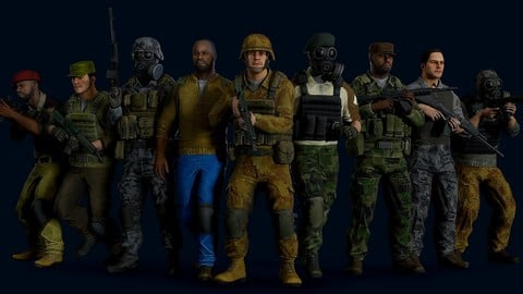 Modular military character