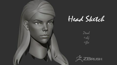 Female Head Sketch