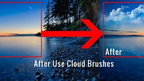Cloud brush for Photoshop
