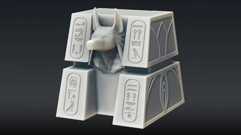 Egyptian Anubis Deck Box || Standard & Commander
