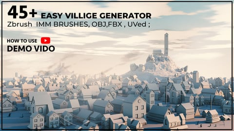 45+ Easy Village Generator Zbrush IMM Brushes [UVed]