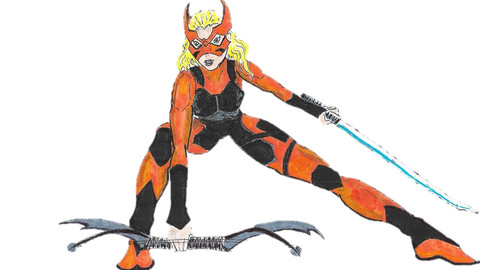 Tigress -handdrawn vector/cartoon/graphic