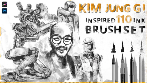KIM JUNG GI Inspired 110 ink Brushset