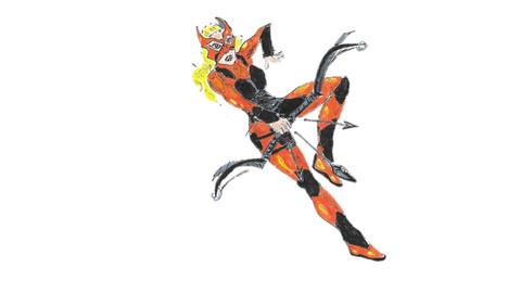 Tigress In Action  handdrawn vector/cartoon/graphic