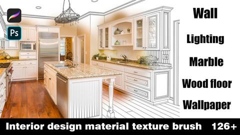 Interior design material  texture brush