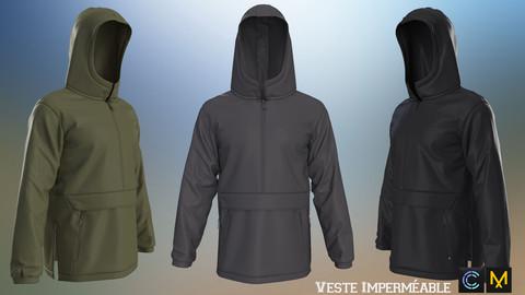 Veste Imperméable,Marvelous designer, Clo3d
