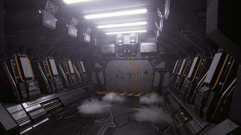 UE4 Scifi Hallway