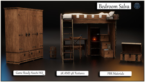 Bedroom The Castle - HQ Game Ready Assets