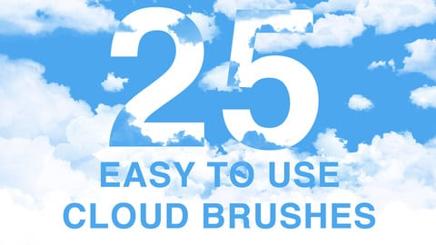 25 Cloud brushes