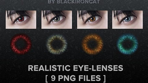 Contact Lenses by Blackironcat  [ 9 PNG files ]