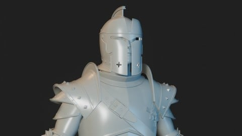 Knight 04 for 3D printing
