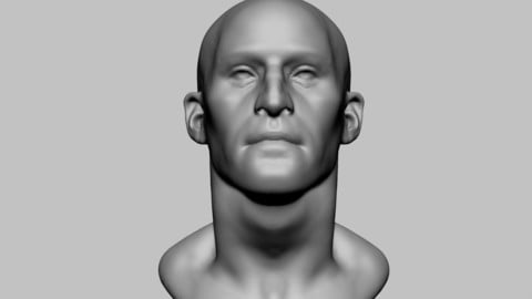 Base Male Head 02