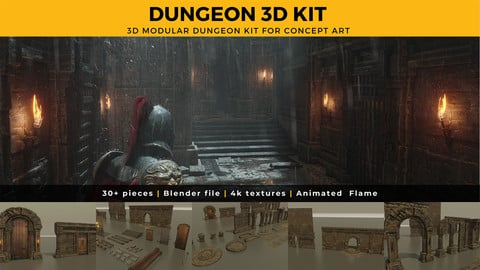 Dungeon 3D Kit for Concept Art