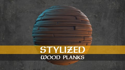 Stylized Wood Planks Material Textures