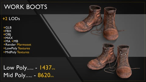 Work Boots LODs