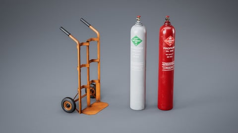 Trolley + Gas Cylinder - Single Asset