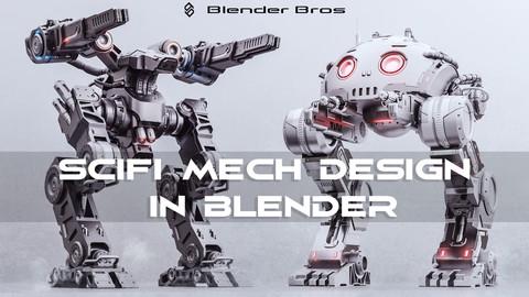 SciFi Mech Design in Blender