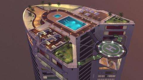 3D Hotel - Rooftop - Inside