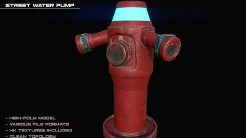 SciFi Water Pump - High-poly/3D Asset/4k Textures/Files(MB, MAX, OBJ, FBX)