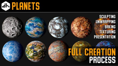 Planets Full Creation Process