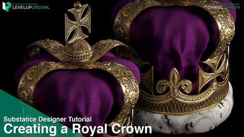 Creating a Royal Crown in Substance Designer | Daniel Thiger