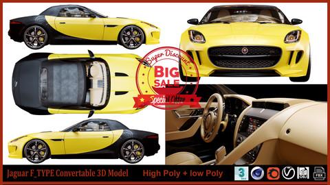 Jaguar F_type Convertable 3D Model