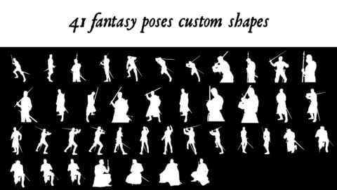 Fantasy poses custom shapes