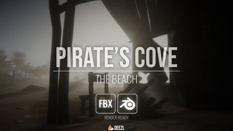 Pirate's Cove - The Beach - Blender,FBX, OBJ