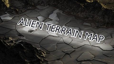 1$ 8K  REALISTIC SCIFI PLANET TERRAIN MAP